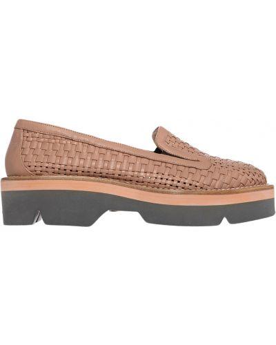 Туфли на танкетке кожаные на каблуке Giorgio Fabiani