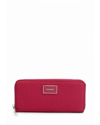Розовый кожаный кошелек Mango