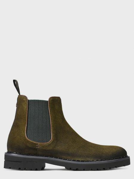 Кожаные ботинки - зеленые Brimarts
