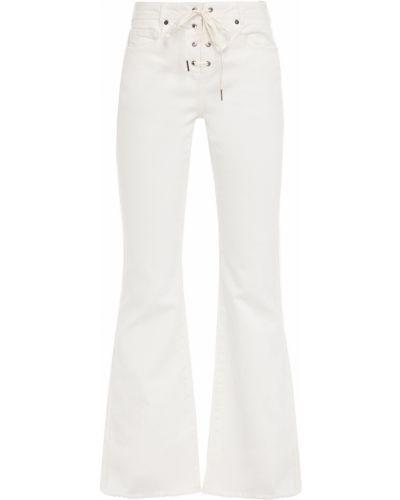 Niebieskie jeansy bawełniane rozkloszowane Zimmermann