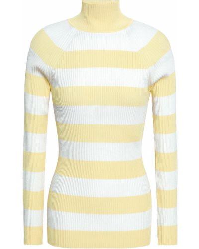 Żółty sweter w paski z wiskozy Zimmermann
