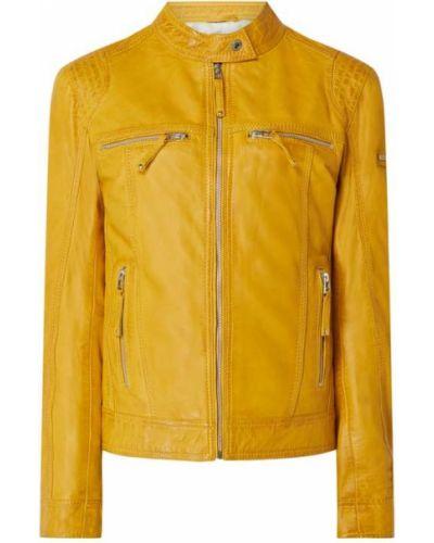 Żółta kurtka skórzana Cabrini