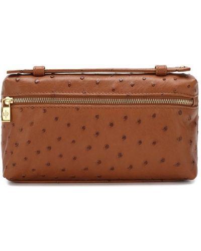 Кожаная сумка вечерняя коричневый Loro Piana