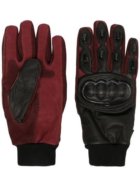 Czarne rękawiczki skorzane Undercover