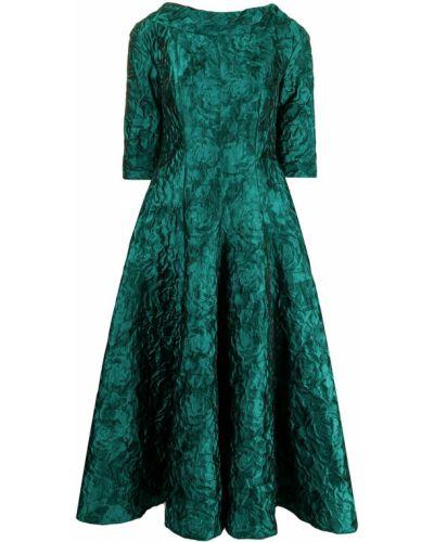Платье миди расклешенное - зеленое Talbot Runhof