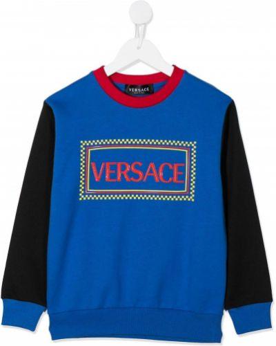 Czarna bluza z długimi rękawami bawełniana Young Versace