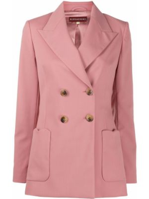Шерстяная розовая куртка с манжетами на пуговицах Alexa Chung