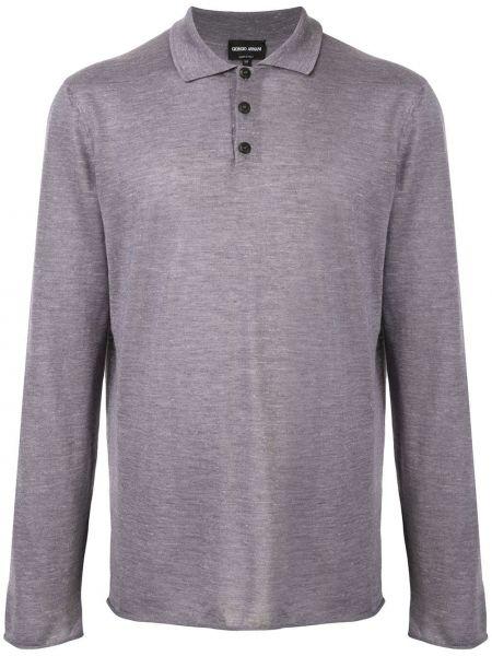 Шелковая с рукавами классическая рубашка с воротником Giorgio Armani