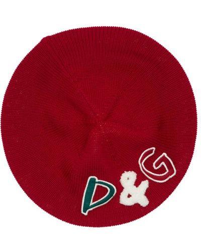 Wełniany kapelusz z haftem Dolce And Gabbana