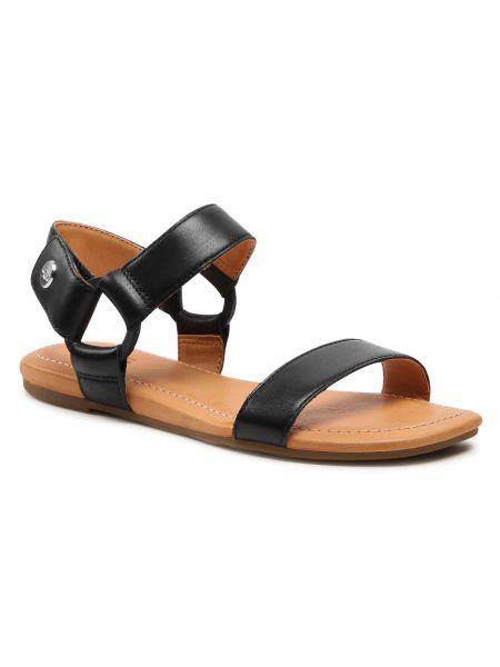 Sandały skórzane - czarne Ugg