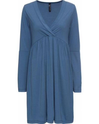 Джинсовое платье свободного кроя расклешенное Bonprix