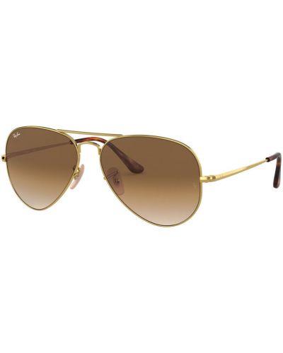 Солнцезащитные очки золотой Ray-ban