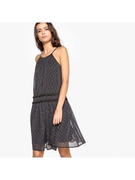 Платье миди коктейльное с поясом La Redoute Collections
