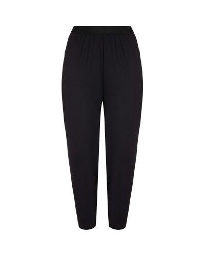 Компрессионные черные спортивные брюки с поясом свободного кроя Demix