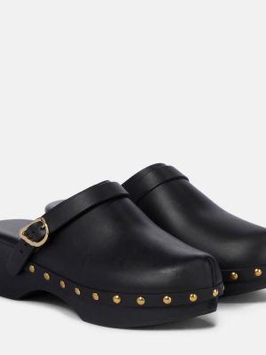 Klasyczne czarne chodaki skorzane Ancient Greek Sandals