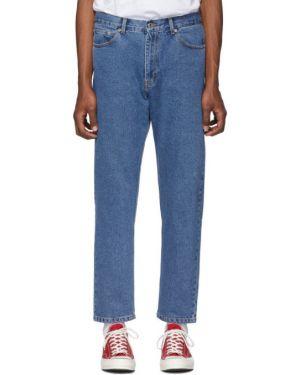 Оранжевые джинсы стрейч с заплатками Second/layer