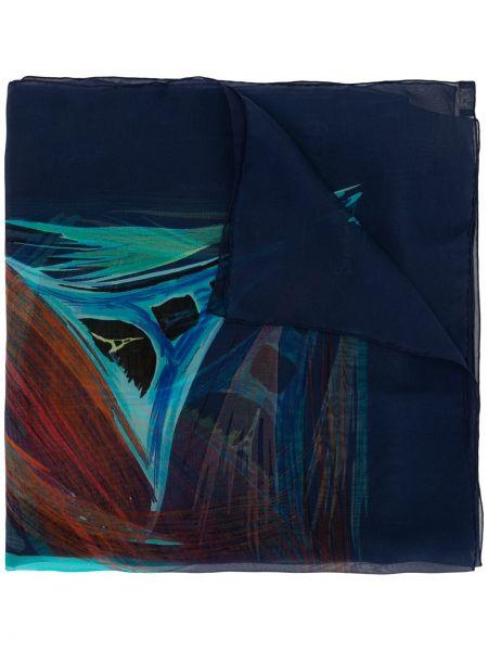 Jedwab ciemnoniebieski szalik przycięte Hermes