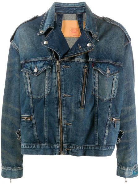 Klasyczne niebieskie jeansy bawełniane Facetasm