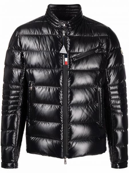 Черная куртка с воротником Moncler