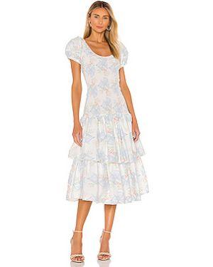 Платье миди с буфами с рукавами Loveshackfancy