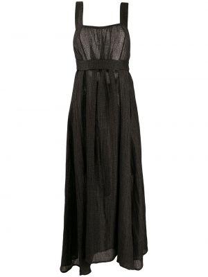 Асимметричное вязаное серое платье с открытой спиной Le Kasha