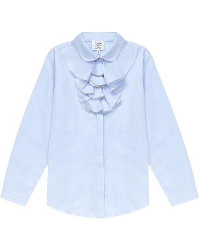 Блузка с длинным рукавом с рюшами прямая Aletta