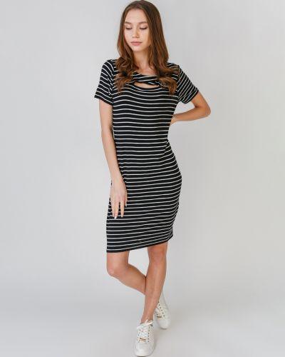 Платье в полоску - черное Vince Camuto