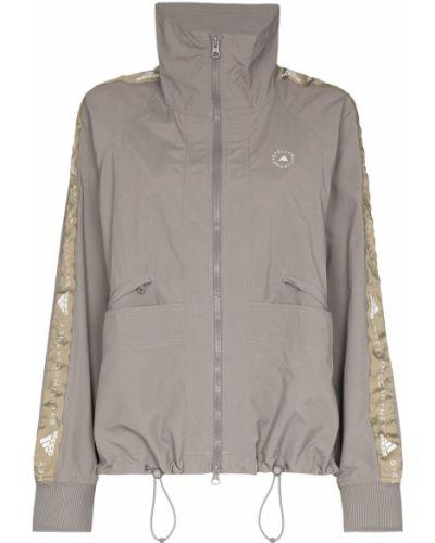 Серая спортивная куртка на молнии с воротником Adidas By Stella Mccartney