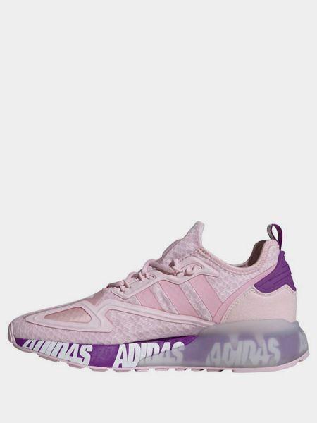 Розовые кроссовки сетчатые на шнуровке Adidas