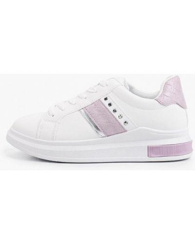 Кожаные белые низкие кеды Ideal Shoes®