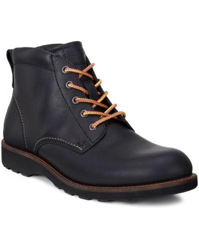Зимние ботинки на шнуровке винтажные Ecco