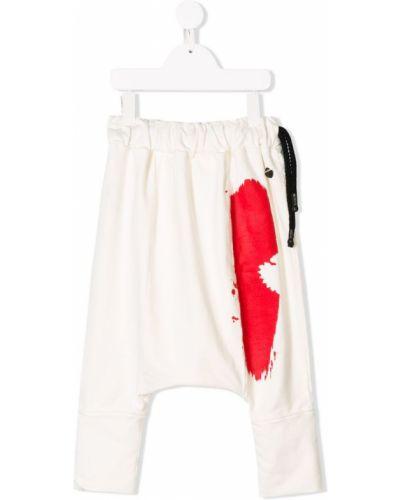 Брюки белые на шнурках Nostra Santissima Kids