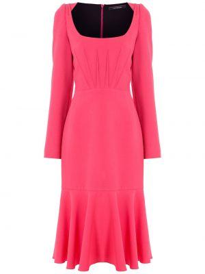 Зауженное платье миди - розовое À La Garçonne