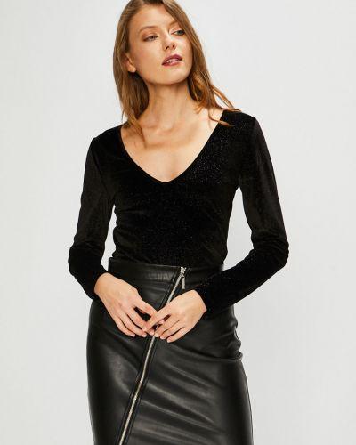 Блузка с V-образным вырезом трикотажная Vila