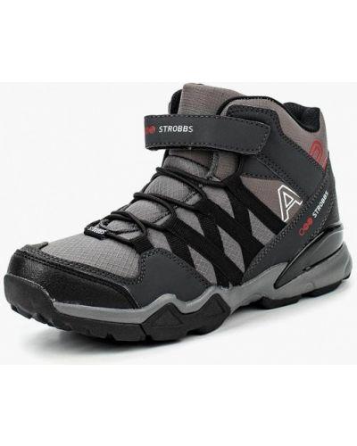 Серые ботинки трекинговые Strobbs