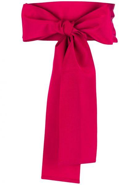 Розовый широкий ремень из вискозы с поясом свободного кроя Sara Roka