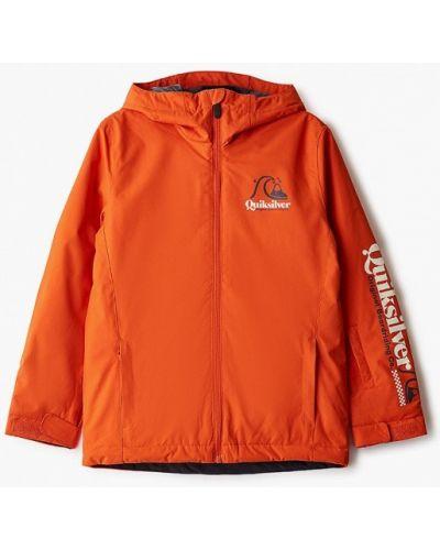 Оранжевая утепленная куртка горнолыжная сноубордическая Quiksilver