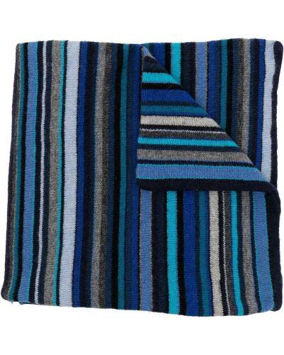 Синий кашемировый шарф Paul Smith