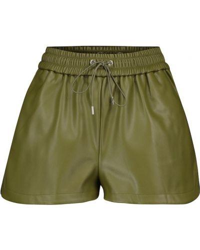 Зеленые кожаные шорты Frankie Shop