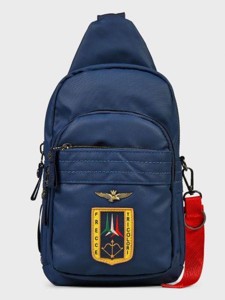 Кожаная сумка - синяя Aeronautica Militare
