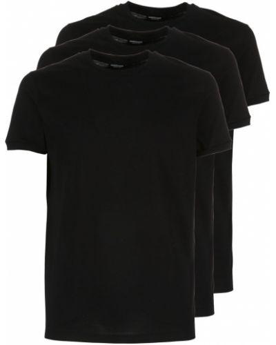 Czarny t-shirt bawełniany Dsquared2 Underwear