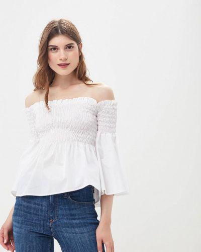 Белая блузка с открытыми плечами Imperial