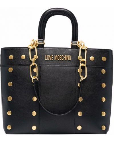 Czarny złoty łańcuszek Love Moschino