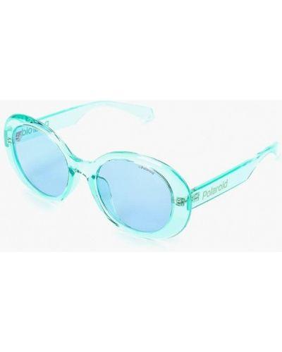 Солнцезащитные очки круглые зеленый Polaroid