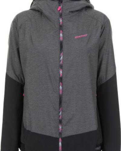 Куртка с капюшоном утепленная черная Ziener