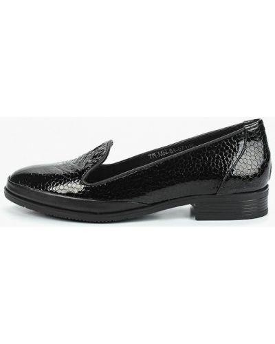 Лоферы черные на каблуке Pierre Cardin