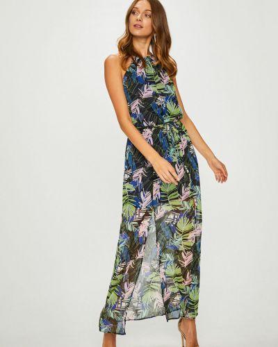 Платье с поясом макси прямое Answear