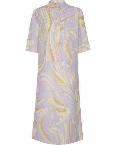 Фиолетовое платье короткое Emilio Pucci