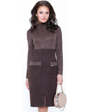 Облегающее платье платье-сарафан замшевое Dstrend