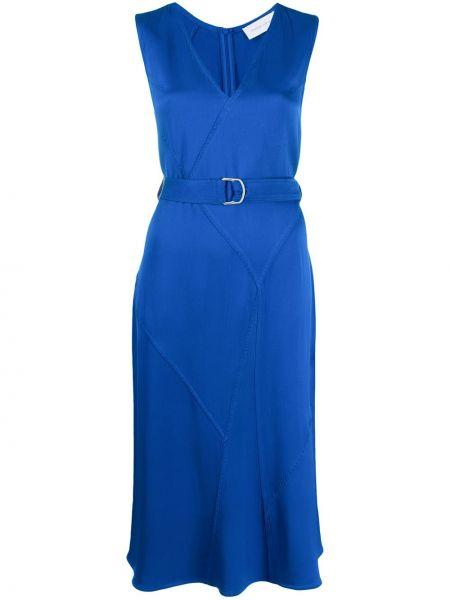 Платье с поясом с V-образным вырезом трапеция Christian Wijnants
